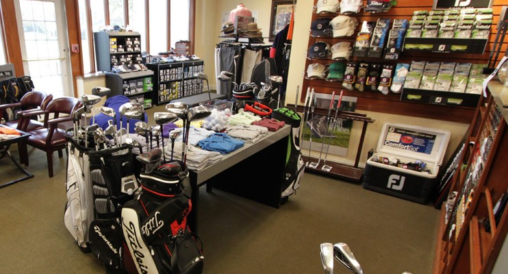 Interior shot of the pro shop at Lawrence Yacht and Country Club